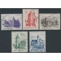 NETHERLANDS - 1951 Summer Stamps (Castles) set of 5, used – NVPH # 568-572
