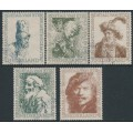 NETHERLANDS - 1956 Summer Stamps (Art) set of 5, used – NVPH # 671-675
