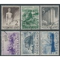 NETHERLANDS - 1950 Summer Stamps (Rebuilding) set of 6, used – NVPH # 550-555