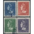 NETHERLANDS - 1946 1G to 10G Queen Wilhelmina set of 4, used – NVPH # 346-349