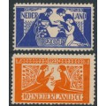 NETHERLANDS - 1923 Artists' Fund set of 2, mint hinged – NVPH # 134-135