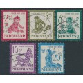 NETHERLANDS - 1950 Voor het Kind set of 5, used – NVPH # 563-567