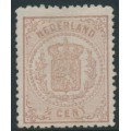 NETHERLANDS - 1871 ½c brown Coat of Arms, perf. 13¼, mint hinged – NVPH # 13C