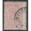 NETHERLANDS - 1869 1½c rose Coat of Arms, perf. 13¼, used – NVPH # 16D