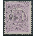 NETHERLANDS - 1870 2½c violet Coat of Arms, perf. 13¼:13¼ (large holes), used – NVPH # 18D