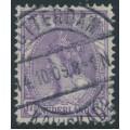NETHERLANDS - 1906 17½c violet Queen Wilhelmina, used – NVPH # 66