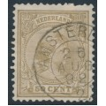 NETHERLANDS - 1891 50c sand-brown Princess Wilhelmina, used – NVPH # 43a
