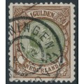NETHERLANDS - 1896 1G brown/olive-green Princess Wilhelmina, perf. 11½:11, used – NVPH # 46B