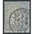 NETHERLANDS - 1884 3G blue Postbewijszegel, used – NVPH # PW4