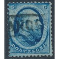 NETHERLANDS - 1864 5c deep blue King Willem III (Haarlem printing), used – NVPH # 4BII