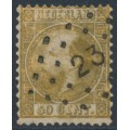 NETHERLANDS - 1867 50c gold King Willem III, type I, perf. 12¾:11¾, used – NVPH # 12IA