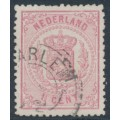 NETHERLANDS - 1869 1½c rose Coat of Arms, perf. 13¼:13¼ (small holes), used – NVPH # 16B