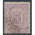 NETHERLANDS - 1870 2½c purple Coat of Arms, perf. 13¼:13¼ (large holes), used – NVPH # 18Da