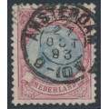 NETHERLANDS - 1893 2½Gld red/blue Princess Wilhelmina, perf. 11½:11½, used – NVPH # 47A