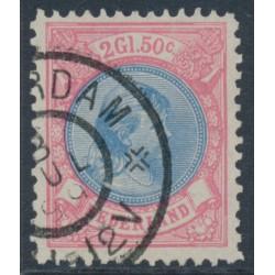 NETHERLANDS - 1896 2½Gld aniline rose/blue Princess Wilhelmina, perf. 11½:11, used – NVPH # 47B