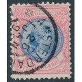 NETHERLANDS - 1896 2½Gld aniline rose/blue Princess Wilhelmina, perf. 11:11, used – NVPH # 47C