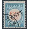 NETHERLANDS - 1906 3c on 1Gld light blue/red Postage Due, type III, used – NVPH # P27