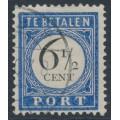 NETHERLANDS - 1907 6½c dark blue/black Postage Due, used – NVPH # P20