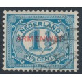 NETHERLANDS - 1918 1½c blue Numeral overprinted ARMENWET in red, used – NVPH # D8