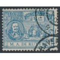 NETHERLANDS - 1907 ½c blue M.A. de Ruyter, 'line through last D of NEDERLAND', used – NVPH # 87P