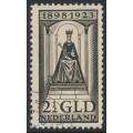 NETHERLANDS - 1923 2½Gld black-brown Queen Wilhelmina Jubilee, used – NVPH # 130