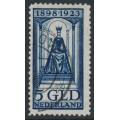 NETHERLANDS - 1923 5Gld deep blue Queen Wilhelmina Jubilee, used – NVPH # 131
