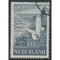 NETHERLANDS - 1951 25G grey-blue Seagull airmail, used – NVPH # LP13