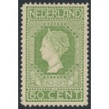 NETHERLANDS - 1913 50c yellow-green Jubilee, perf. 11½:11½, MH – NVPH # 97B