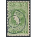 NETHERLANDS - 1913 50c yellow-green Jubilee, perf. 11½:11½, used – NVPH # 97B