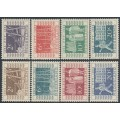 NETHERLANDS - 1952 Jubilee + ITEP Stamp Exhibition colour changes set of 8, MNH – NVPH # 588-595