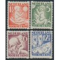 NETHERLANDS - 1930 Voor het Kind set of 4 with coil perforations, mint hinged – NVPH # R86-R89