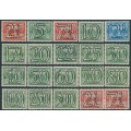 NETHERLANDS - 1940 2½c to 500c Numeral set of 18, MH – NVPH # 356-373+356b