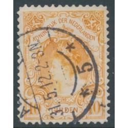 NETHERLANDS - 1905 10G orange Queen Wilhelmina, used – NVPH # 80