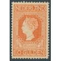 NETHERLANDS - 1913 10G orange Queen Wilhelmina Jubilee, mint hinged – NVPH # 101B