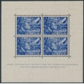 NETHERLANDS - 1942 12½c+87½c blue Dutch Legion sheetlet of 4, MH – NVPH # 403B