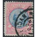 NETHERLANDS - 1896 2½Gld aniline rose/blue Princess Wilhelmina, perf. 11½:11, used – NVPH # 47B