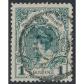 NETHERLANDS - 1898 1G blue-green Queen Wilhelmina (type I), perf. 11½:11, used – NVPH # 49
