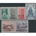 LUXEMBOURG - 1937 St. Willibrord set of 6, used – Michel # 309-314