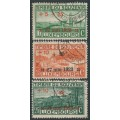 LUXEMBOURG - 1923 War Memorial Fund set of 3, 27 mai 1923 overprints, used – Michel # 144-146