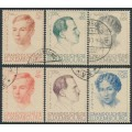 LUXEMBOURG - 1939 Caritas set of 6, used – Michel # 333-338