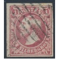 LUXEMBOURG - 1852 1SGr carmine-red Prince Wilhelm III, imperforate, used – Michel # 2b