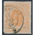 LUXEMBOURG - 1867 40c red-orange Coat of Arms, coloured roulette, used – Michel # 23a