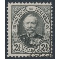 LUXEMBOURG - 1893 2½Fr grey-black Grand Duke Adolf, used – Michel # 65