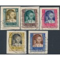 LUXEMBOURG - 1930 Children's Charity set of 5, used – Michel # 227-231