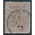 BELGIUM - 1866 5c brown Coat of Arms, perf. 14½:14, used – Michel # 22Aa