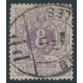 BELGIUM - 1870 8c dull lilac Numeral, used – Michel # 26Aa