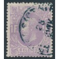 BELGIUM - 1870 1Fr violet King Leopold II, used – Michel # 33Aa
