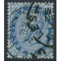 BELGIUM - 1883 25c blue King Leopold II, used – Michel # 37