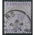 BELGIUM - 1883 50c violet King Leopold II, used – Michel # 38