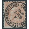 BELGIUM - 1884 1Fr brown-red on greenish King Leopold II, used – Michel # 46
